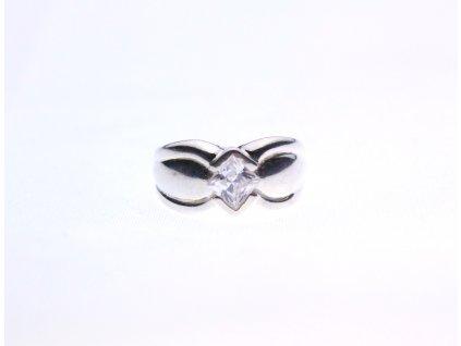 Stříbrný prsten s kamenem soliter velikost 51 x1320 (2)