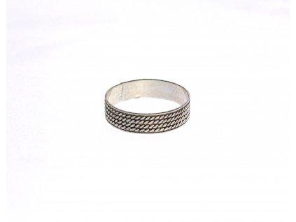 Stříbrný prsten šupiny velikost 60 x1321 (1)
