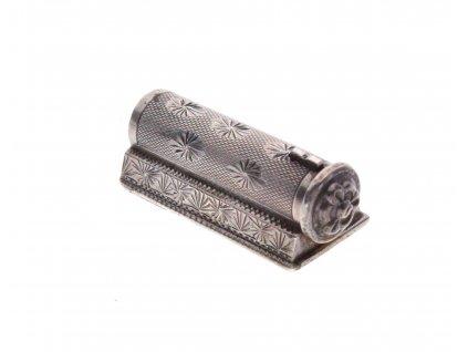 Stříbrná gravírovaná rtěnka se zrcátkem x1359 (5)