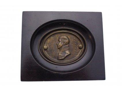 Plastika miniaturka obrázek mosaz Friedrich Wilhem x1410 (1)
