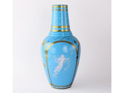 Starožitné modré mléčné sklo x1420(9)