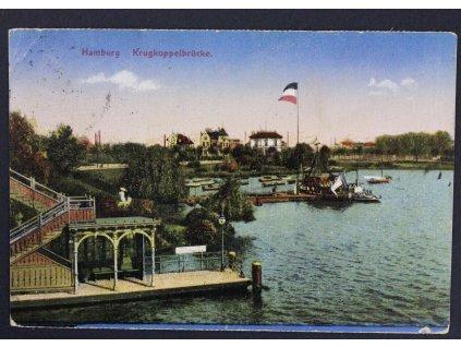 Pohlednice Polní pošta Hamburg Krugkoppelbrücke P281 (3)