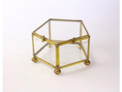 Prosklená dózička na šperky šperkovnice 1543 (2)