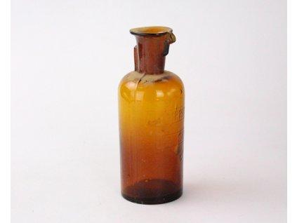 Starožitná lékárnice hnědé sklo Lamprecht's