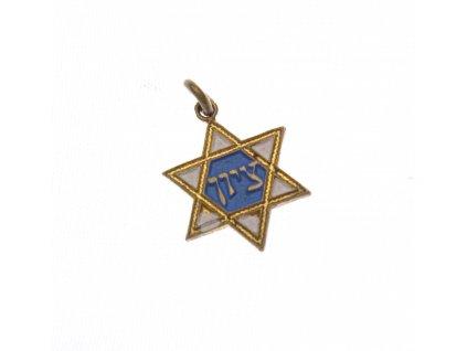 Starý židovský přívěšek x1613 (1)