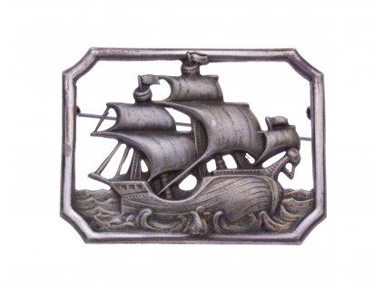 Stará brož plachetnice x1614 (2)