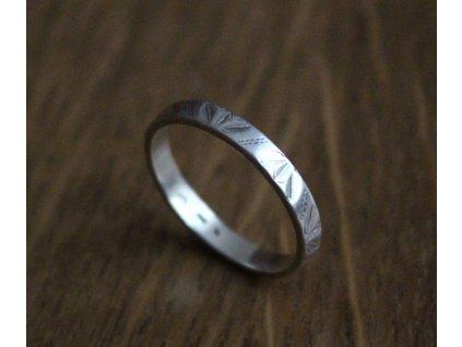 Starý stříbrný prsten v57 y119 (5)