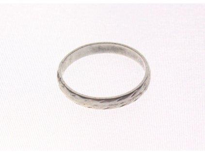 Starý stříbrný prsten v56 y120 (2)