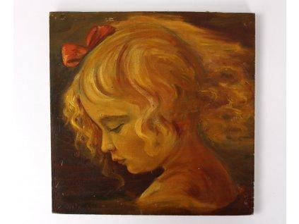 obraz portrét dívka olej Jistr. 43 x1702 (1)