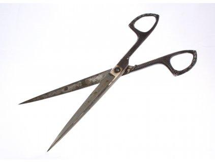 Starožitné secesní nůžky x1707 (6)