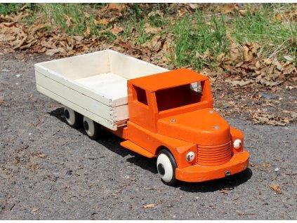 Starožitná dřevěná hračka náklaďák První republika x1712 (2)