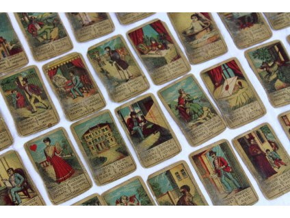 Staré věštecké karty Vykládací karty esoterika x1718 (2)