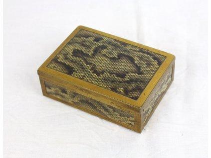 Starožitná šperkovnice imitace hadí kůže y109 (1)