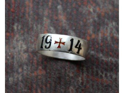 Zákopový prsten smaltovaný 1914 y118 (2)