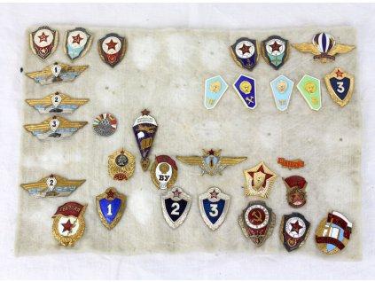 Sovetské odznaky vojenské set x1788 (9)