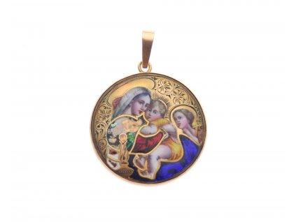 Zlatá Madonka s Ježíškem x1820 (1)