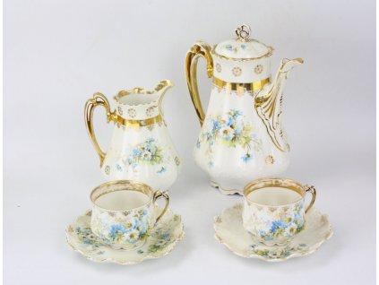 Secesní porcelánová čajová souprava M.Z. Austria Y158 (12)