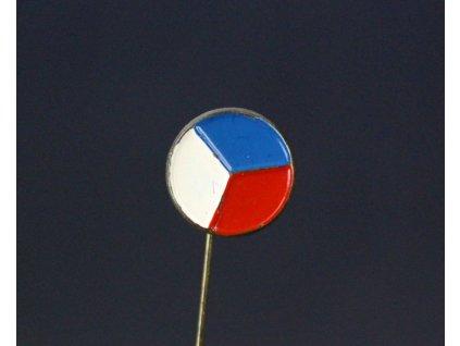 Odznak ČR vlajka ČSR y175 (3)