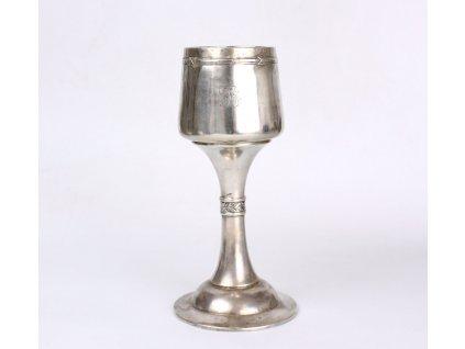 Secesní stříbrný pohár RAKOUSKO UHERSKO x1838 (1)