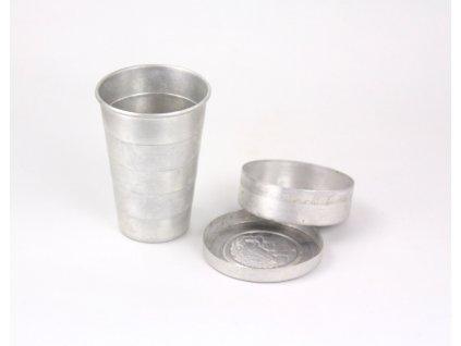 Skládací hliníkový cestovní kelímek pohárek x1855 (1)