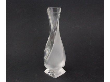 Pískovaná skleněná vázička x1892 (5)