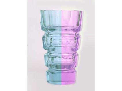 Váza barvoměnná ALEXANDRID ART DECO JOSEF HOFMANN DESNÁ x1946 (1)