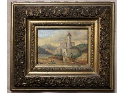 Obraz Ullik olej na plátně ROZHLEDNA (2)