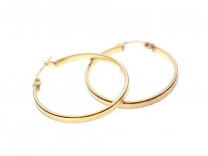 Zlaté kruhové náušnice 14k (2)