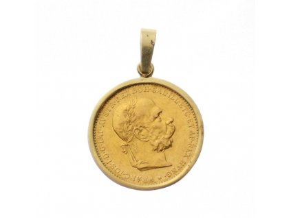 Zlatá mince přívěsek 20 koruna František Josef 1894 (1)