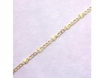 Zlatý náramek 18 cm (2)