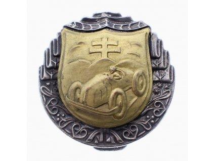 Vojenský odznak Řidič automobilu značeno znakem Slovenska x2093 (3)