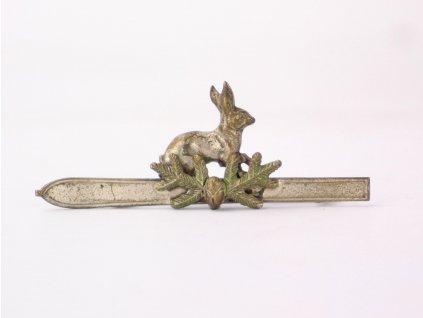 Lovecká brož zajíc a lyže y230 11 (2)