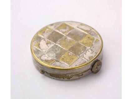 Starožitná mechanická pudřenka montre à poudre (11)
