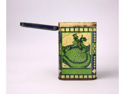 Starožitná zelená plechovka (2)