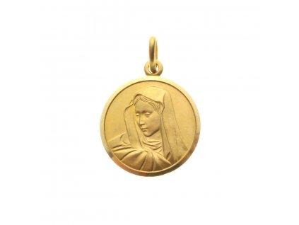 Zlatý medailonek přívěšek MADONKA (2)