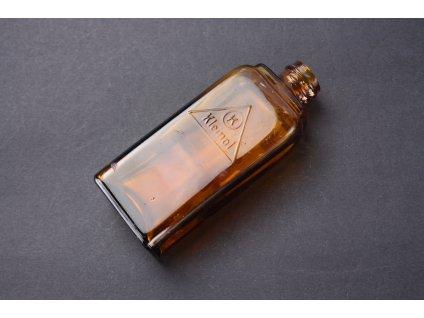 Stará skleněná lahvička hnědé sklo KLEINOL