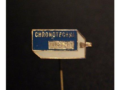 Odznáček CHRONOTECHNA BRNO bílotmavěmodrý