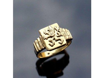 Zlatý oanský prsten ArtDECO LEV (5)