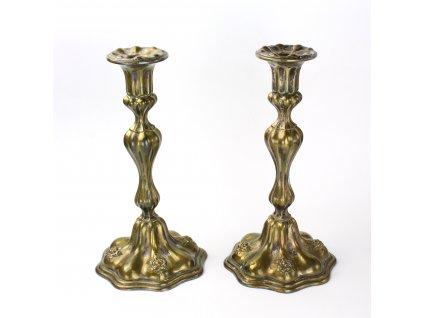 Párové svícny šábesové 19. století