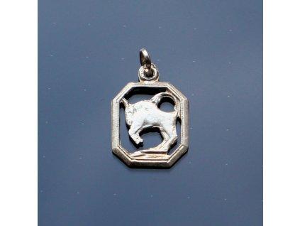 Stříbrný přívěsek Býk (1)