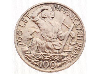 Stříbrná pamětní mince ČSR Hornická práva 100 Kčs 1949 (2)