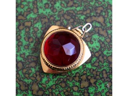 Dámské hodinky ZARIA červené medailon (3)