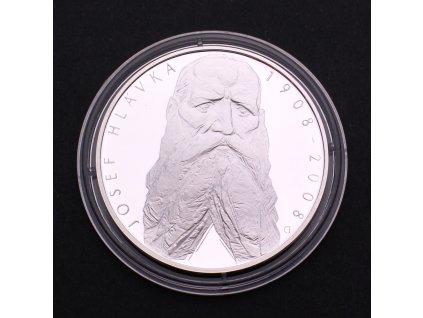 Stříbrná pamětní mince 200 Kč Josef Hlávka 1908-2008 PROOF