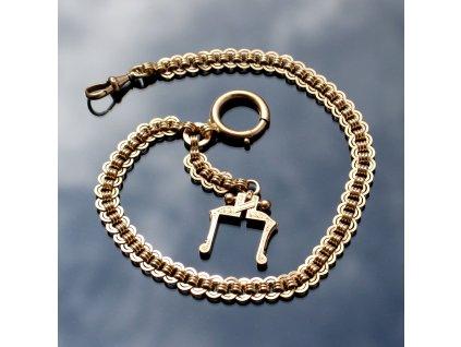 Zlatý řetízek k hodinkám RAKOUSKO-UHERSKO
