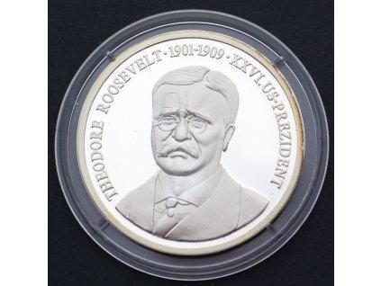 Pamětní mince Theodore Roosevelt 1901-1909 PROOF