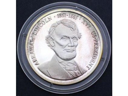 Pamětní mince Abraham Lincoln 1861-1865 XVI. PROOF