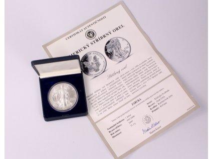Pamětní stříbrná mince 1 DOLAR 2009 AMERICKÝ STŘÍBRNÝ OREL