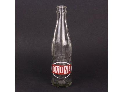 Retro skleněná lahev od nápoje OVONA