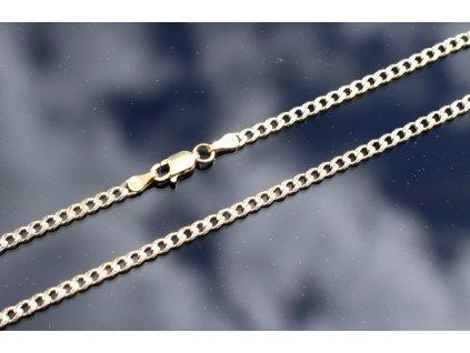 Stříbrný řetízek zlacený 50 cm