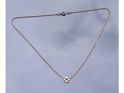 Stříbrný náhrdelník Kytička 39 cm
